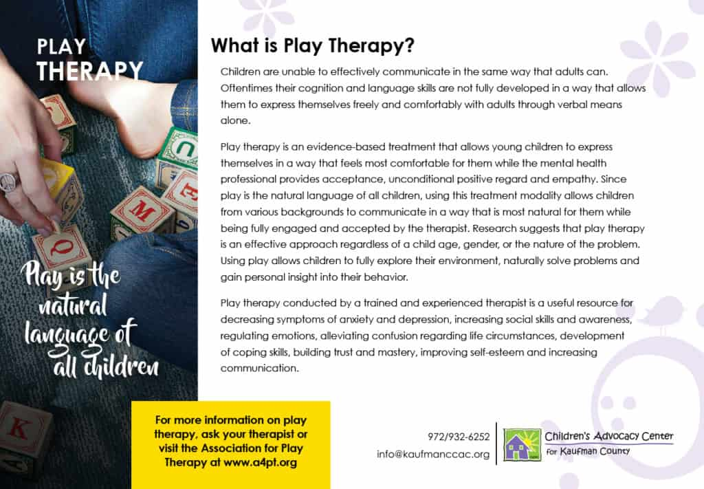 Play Therapy Handout